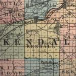 Map of Kendall County 1875
