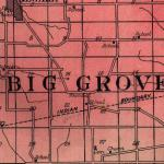 Map of Big Grove Township 1922