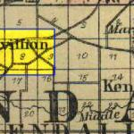 Map of Pavillion in Kendall Township 1875