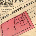 Map of Fox and Fox Station 1922