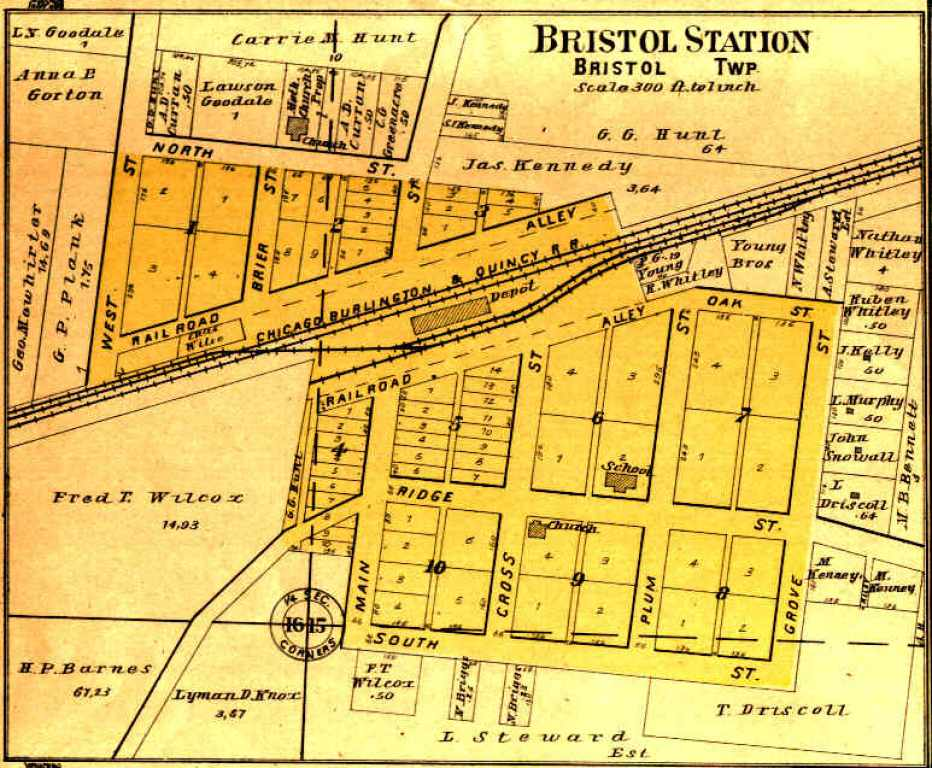 Bristol Illinois Map.Index To Kendall County Maps Kendall County Ilgenweb