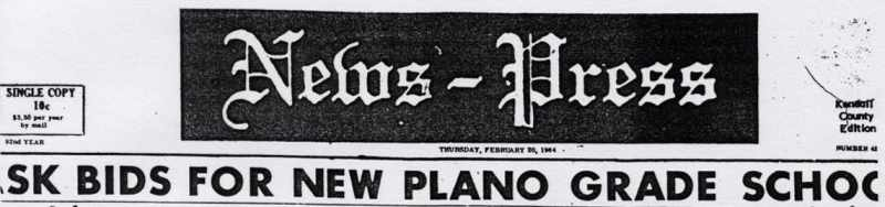 Plano-Sandwich News Press